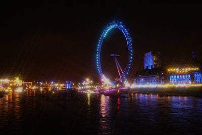 Photograph - London Eye Art by Doc Braham