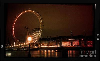 Photograph - London Eye At Dusk by Heidi Hermes