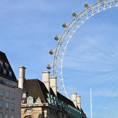 Photograph - London Eye In Abstract by Cheryl Miller