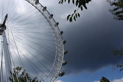 London Eye Clouds Art Print by Nicky Jameson