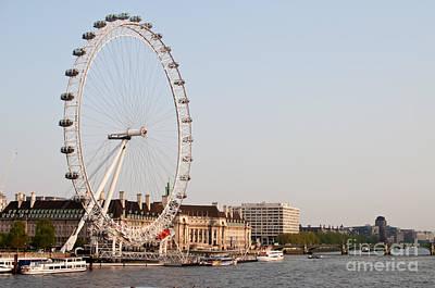 Art Print featuring the photograph London Eye Day by Matt Malloy