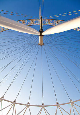 London Eye Geometry Art Print by Adam Pender