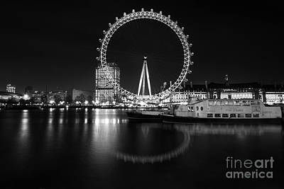 London Eye Mono Art Print