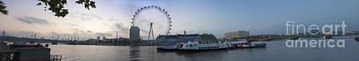Victoria Embankment Photograph - London Eye Panoramic by Donald Davis