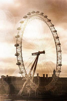 Photograph - London Eye Refraction by Heidi Hermes