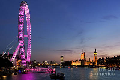 London Eye Photograph - London Eye by Rod McLean