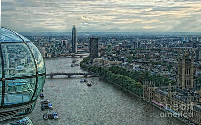 Photograph - London Eye View by Gina Cormier
