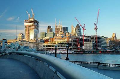 Financial District Photograph - London Financial Skyline by Travelpix Ltd