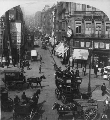 London Fleet Street, C1901 Art Print
