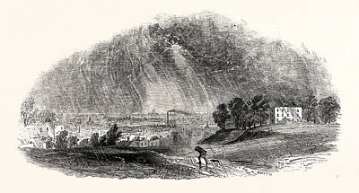 Storm Drawing - London, From Blackheath, During The Storm by English School