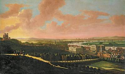 Wren Photograph - London From Greenwich Hill, C.1680 Oil On Canvas by Johannes Vorsterman