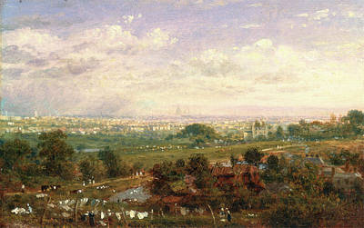 London From Islington Hill, Frederick Nash Art Print by Litz Collection