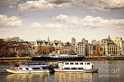 London From Thames River Art Print by Elena Elisseeva