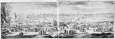 Wyck Drawing - London Frost Fair, 1684 by Granger