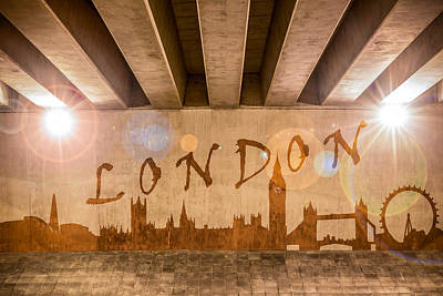 Photograph - London Graffiti Skyline by Semmick Photo