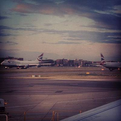 London Wall Art - Photograph - #london #heathrow #britishairways by Abdelrahman Alawwad