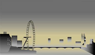 Westminster Abbey Digital Art - London In The Mist by Nigel Wakefield