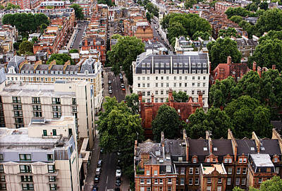 London Kensington Rooftops Art Print by Nicky Jameson