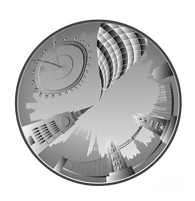 London Skyline Digital Art - London landmarks by Michal Boubin