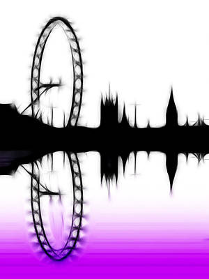 London Skyline Digital Art - London Landmarks by Sharon Lisa Clarke