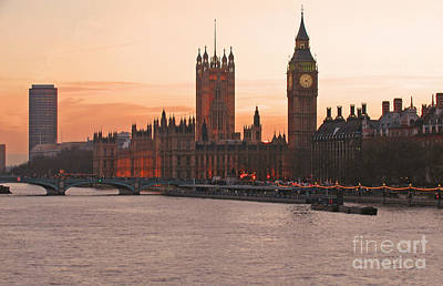 London Skyline Royalty-Free and Rights-Managed Images - London Lights by Ann Horn