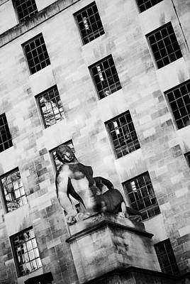 London Mod Building Art Print by Mark Rogan