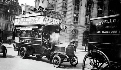Eleven Photograph - London Motor Bus by Library Of Congress