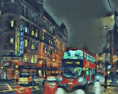 Old Town Digital Art - London Night 1 by Yury Malkov
