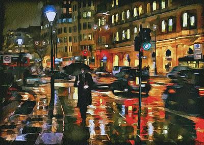 Old Town Digital Art - London Night 3 by Yury Malkov