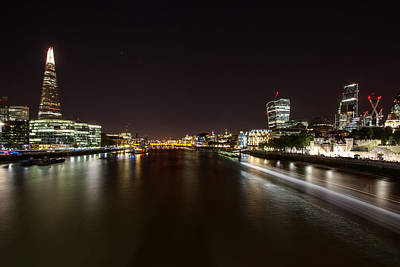Photograph - London Nightscape by Wayne Molyneux