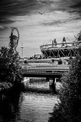Photograph - London Olympic Stadium And Sculpture 2013 by Lenny Carter