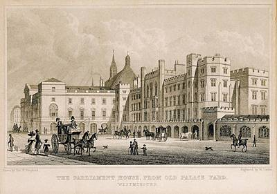Londoners Photograph - London. Parliament. Engraving - � J by Everett