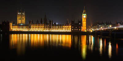 London Skyline Royalty-Free and Rights-Managed Images - London reflections by Izzy Standbridge