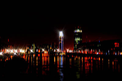 London Eye Mixed Media - London River Thames Art Vi by Doc Braham