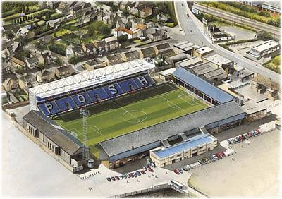 Painting - London Road - Peterborough United by Kevin Fletcher