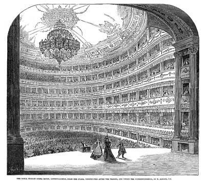 London Royal Italian Opera Print by Granger