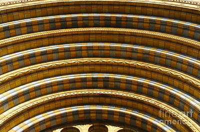 Photograph - Arches In Blue And Gold by Haleh Mahbod