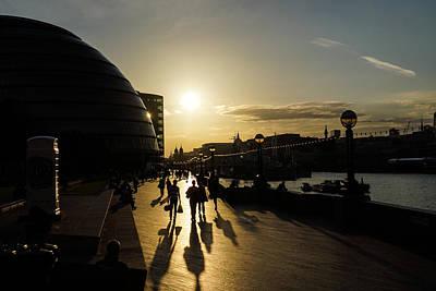 Photograph - London Silhouettes  by Georgia Mizuleva