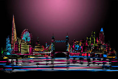 By Artist Singh Painting - London Skyline 2 by Artist Singh