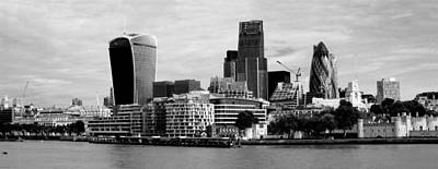 Photograph - London Skyline Cityscape Bw by David French