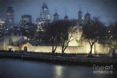 Architektur Digital Art - London Skyline by Julie Woodhouse
