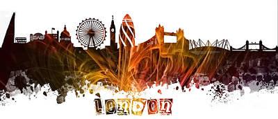 London Skyline Digital Art - London skyline  by Justyna JBJart
