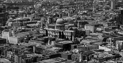 St Pauls Cathedral Photograph - London Skyline by Martin Newman