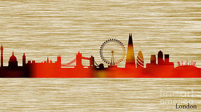 London Skyline Mixed Media - London Skyline by Marvin Blaine