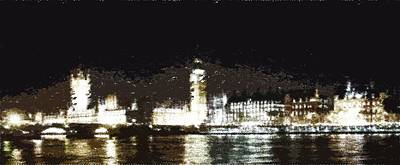 Painting - London Skyline - Typography by Samuel Majcen