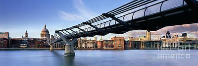 London Skyline Photograph - Millennium Bridge London 1 by Rod McLean