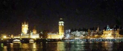 Painting - London Skyline - Big Ben by Samuel Majcen
