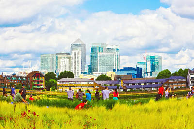 Canary Wall Art - Photograph - London Skyscrapers by Tom Gowanlock