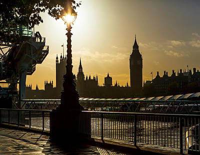 London Skyline Photograph - London South Bank In Silhouette by Susan Schmitz