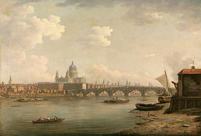 Marlow Painting - London, St. Pauls And Blackfriars Bridge Signed by Litz Collection